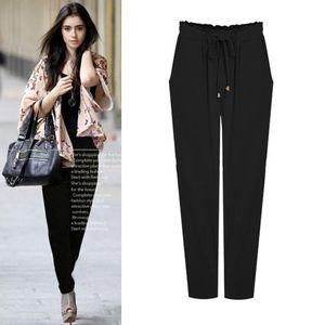 express Womens Harem drawstring black pants SZ. S
